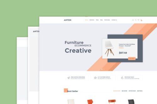 پوسته وردپرس مبلمان Anton - Furniture WooCommerce WordPress Theme