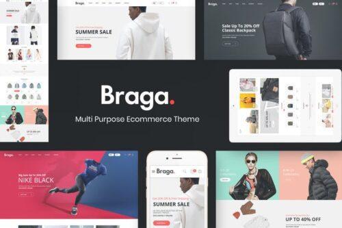 پوسته وردپرس مد و فشن Braga - Fashion Theme for WooCommerce WordPress
