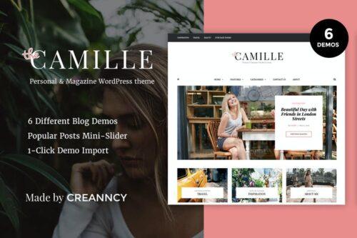 پوسته وردپرس بلاگ Camille - Personal & Magazine WordPress Blog Theme