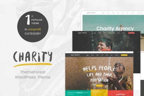 پوسته وردپرس خیریه Charity WordPress Theme