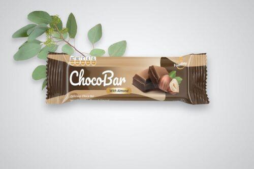 طرح لایه باز بسته بندی اسنک و شکلات Chocolate / Food / Snack Bar Packaging