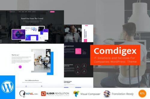 پوسته وردپرس فناوری اطلاعات Comdigex - IT Solutions and Services WP Theme