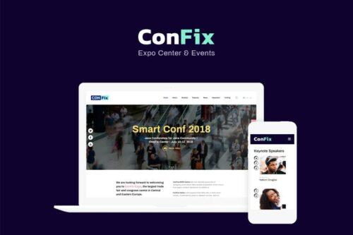 پوسته وردپرس همایش و رویداد ConFix