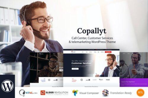 پوسته وردپرس روابط عمومی Copallyt - Call Center & Telemarketing WordPress T