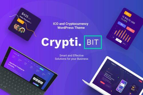 پوسته وردپرس ارزدیجیتال CryptiBIT - Cryptocurrency, ICO WordPress theme