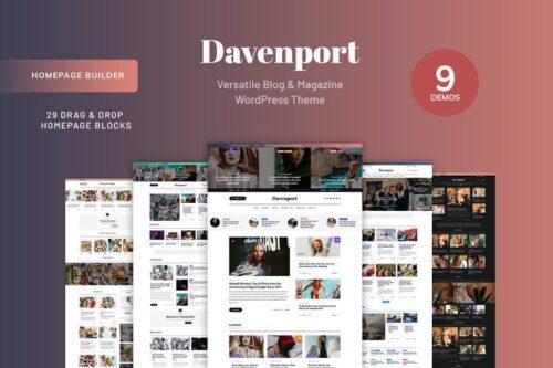 پوسته وردپرس بلاگ Davenport - Blog and Magazine WordPress theme