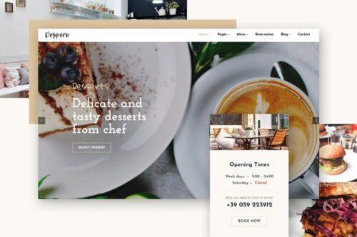 پوسته وردپرس کافه رستوران Despero Cafe & Restaurant WordPress Theme