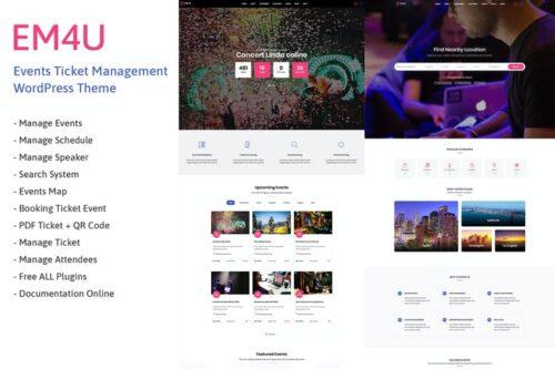 پوسته وردپرس همایش و رویداد EM4U - Event Tickets WordPress Theme
