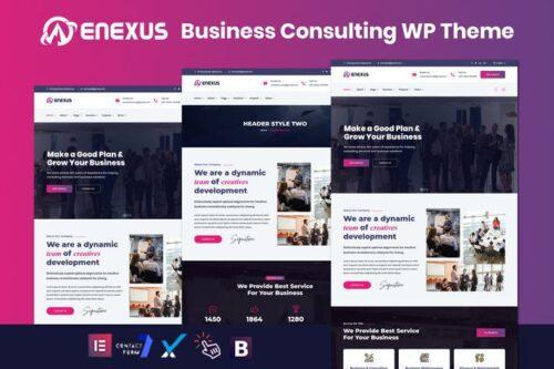 پوسته وردپرس مشاوره تجاری Enexus - Consulting Business Elementor WordPress