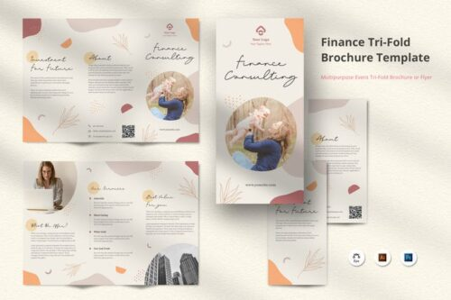 طرح لایه باز بروشور Floral Brochure