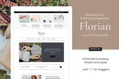 پوسته وردپرس بلاگ شخصی Florian - Responsive Personal WordPress Blog Theme