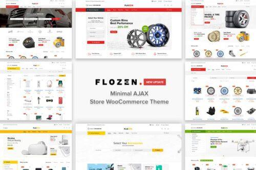 پوسته وردپرس لوازم یدکی خودرو Flozen - AJAX Car Accessories Theme for WordPress