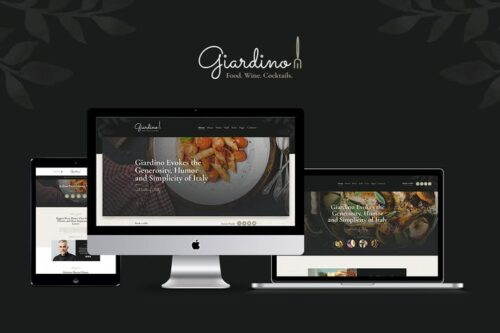 پوسته وردپرس رستوران Giardino
