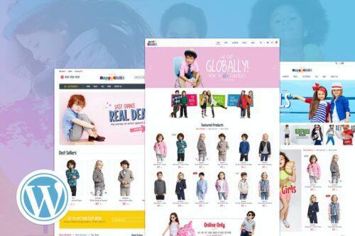 پوسته وردپرس فروشگاهی HappyChild   Multi Store Responsive WordPress Them