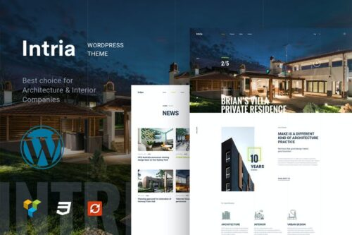 پوسته وردپرس معماری و طراحی داخلی Intria - Architecture and Interior WordPress Theme