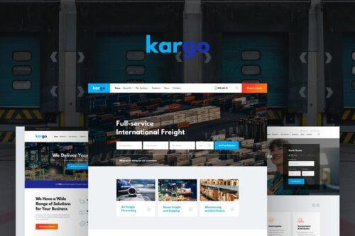 قالب وردپرس لجستیکی و حمل و نقل Kargo