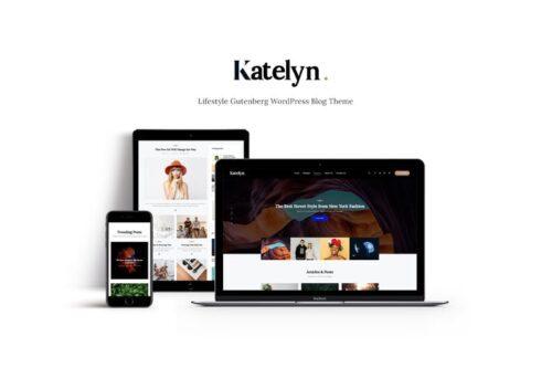 قالب وردپرس بلاگ Katelyn