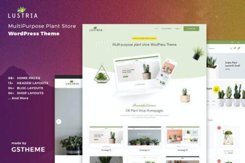 قالب وردپرس گل و گیاه Lustria - MultiPurpose Plant Store WordPress Theme