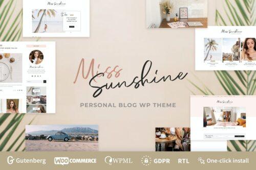 پوسته وردپرس بلاگ زیبایی Miss Sunshine - Lifestyle & Beauty Women Blog