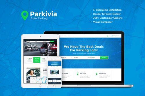 قالب وردپرس تعمیرات خودرو Parkivia | Auto Parking & Car Maintenance WP