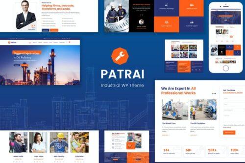 پوسته وردپرس صنعتی Patrai Industry - Industrial WordPress