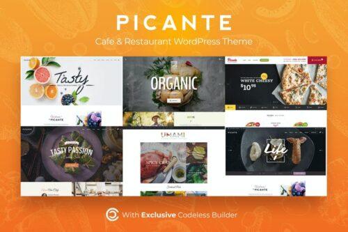 قالب وردپرس رستوران Picante | Restaurant WordPress Theme