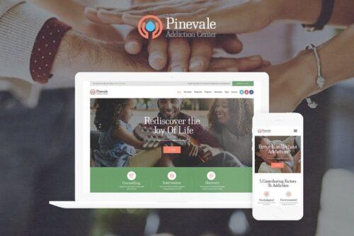 قالب وردپرس پزشکی Pinevale