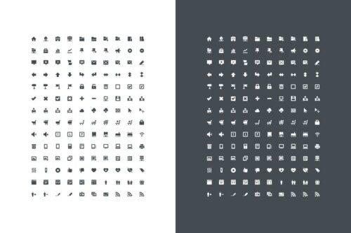 طرح لایه باز ست آیکون دکمه و فرم Pixel Perfect Mini Icons Vol. 1