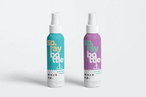 موکاپ بطری اسپری Plastic Spray Bottle Mockups