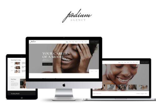 پوسته وردپرس مدلینگ Podium - Model Agency WordPress Theme