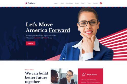 پوسته وردپرس سیاسی Potisen - Election & Political WordPress Theme