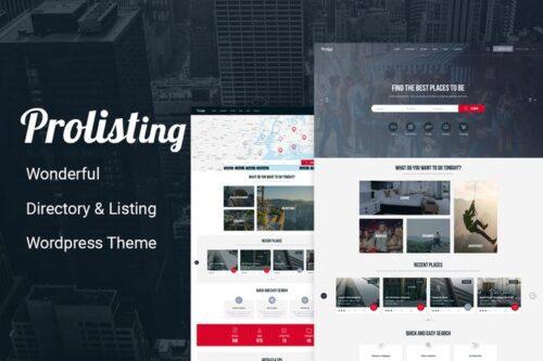 قالب وردپرس دایرکتوری و آگهی Prolisting - Directory Listing WordPress Theme