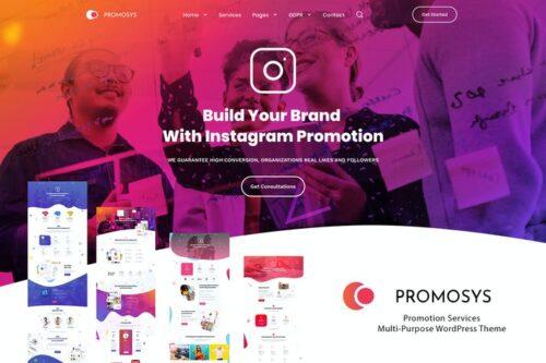 قالب وردپرس چندمنظوره PromoSys Promotion Services