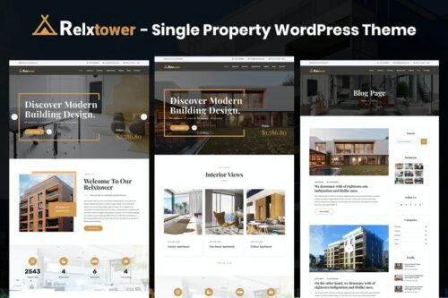 قالب وردپرس طراحی داخلی Relxtower - Single Property Elementor WordPress