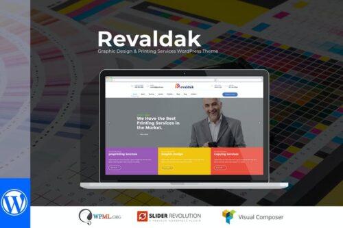 قالب وردپرس طراحی گرافیک Revaldak - Printing Services WordPress Theme
