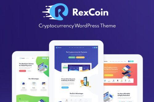 پوسته وردپرس ارز دیجیتال RexCoin - Cryptocurrency & Coin ICO WordPress