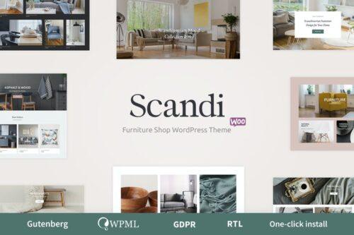 پوسته وردپرس دکوراسیون و مبلمان Scandi - Decor & Furniture Shop WooCommerce Theme