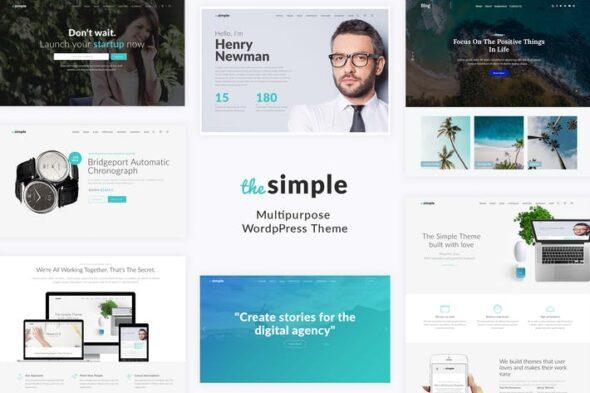 قالب وردپرس تجاری Simple - Business WordPress Theme