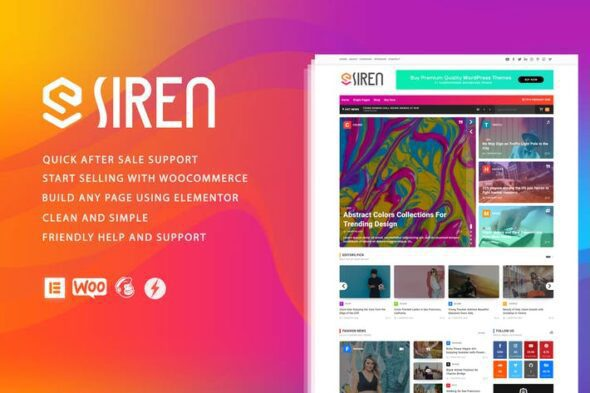 قالب وردپرس مجله Siren - News Magazine Elementor WordPress Theme