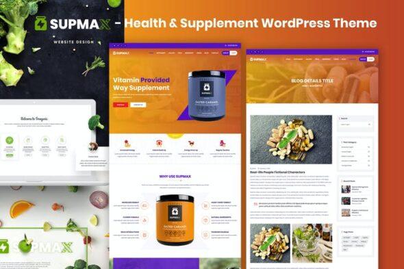 قالب وردپرس سلامتی و تغذیه Supmax - Health & Supplement Elementor WordPress