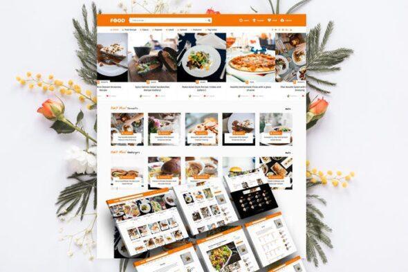 قالب وردپرس بلاگ آشپزی Tasty Food - Recipes & Food Blog WordPress Theme