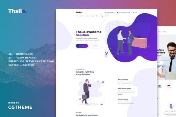 قالب وردپرس مشاوره مالی Thallo – Consulting & Finance WordPress Theme