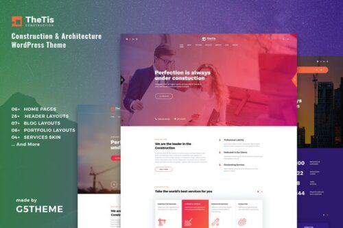 قالب وردپرس معماری و ساختمان TheTis – Construction & Architecture WordPress The