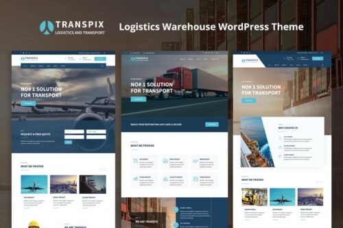 قالب وردپرس لجستیکی Transpix - Logistics Warehouse WordPress Theme