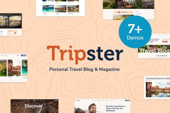 قالب وردپرس بلاگ شخصی Tripster