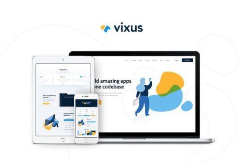 قالب وردپرس اپ موبایل Vixus