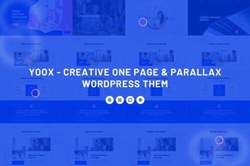 قالب وردپرس تک صفحه ای Yoox - Creative One Page & Parallax WordPress Them