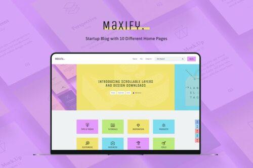 قالب وردپرس شرکتی Maxify