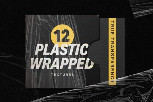 طرح لایه باز پلاستیک بسته بندی 12 Plastic Wrapped Textures