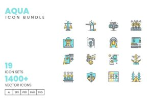 طرح لایه باز ست آیکون تجاری 1400+ Icons Bundle Pack – Business Enterprise